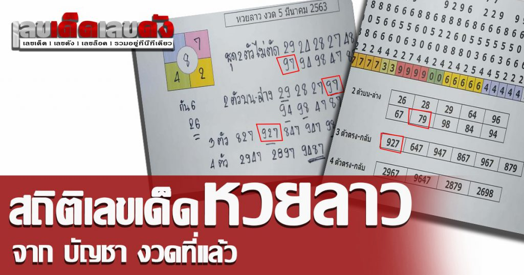 Bancha laos lucky number 9/3/63