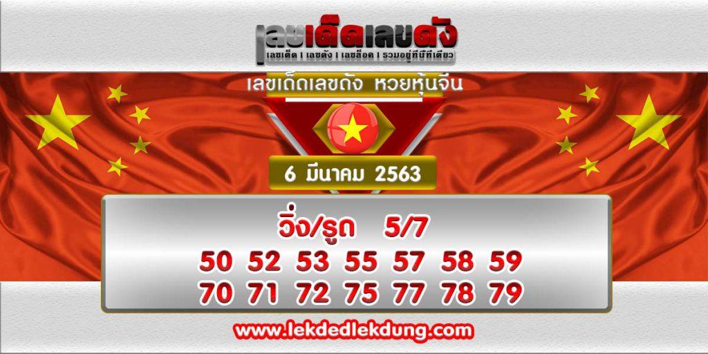 เลขเด็ด หวยหุ้นจีน ประจำวันที่ 6/03/63 chinese-stock-lottery