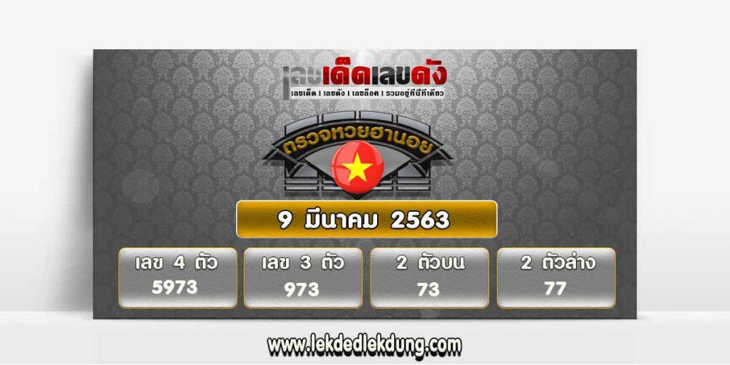 Hanoi Lottery Results Today 09/03/63