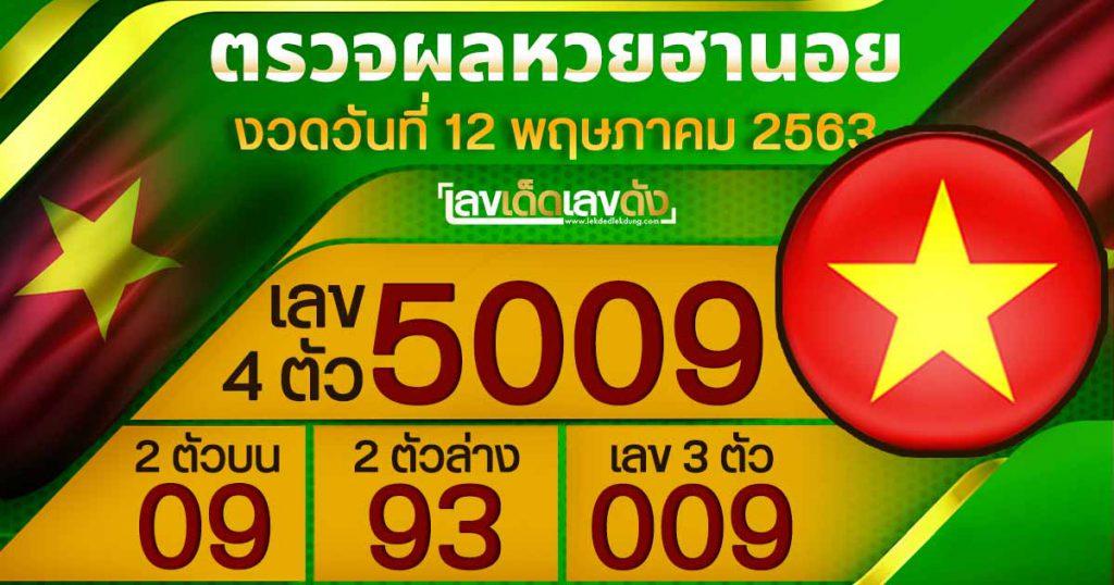 Hanoi Lottery results today 12/05/63
