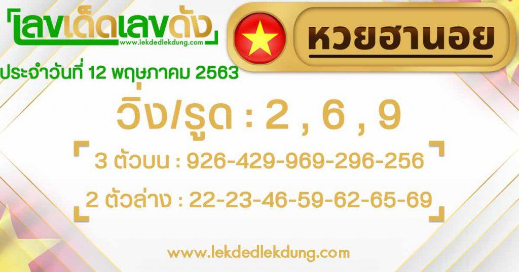 Hanoi Lottery today 12/5/63
