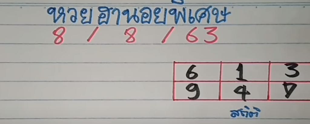 แนวทางหวยฮานอยพิเศษ 8/8/63