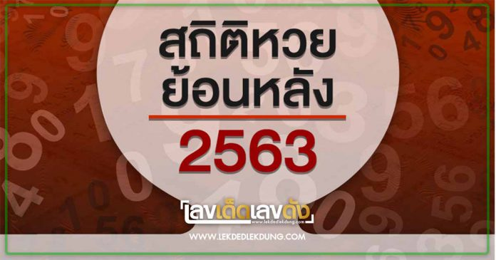 สถิติผลหวย 2563